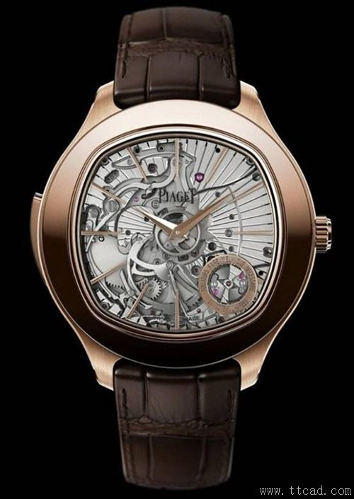 7. 伯爵品牌史上首款三问表Piaget Emperador Coussin Ultra-Thin Minute Repeater