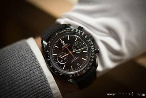 10. 欧米茄《月之暗面》腕表Omega Speedmaster Dark Side Of The Moon