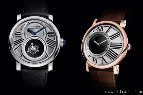 6. 卡地亚MONTRE ROTONDE双陀飞轮手表Cartier Montre Rotonde Double Mystery Tourbillon