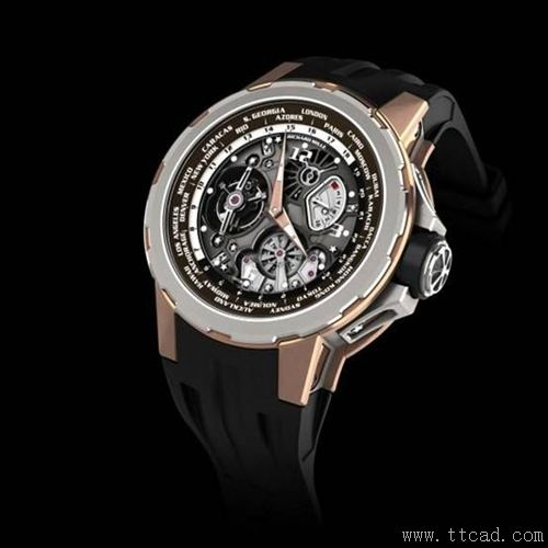 5. 瑞驰迈迪国际标准时陀飞轮腕表 Jean Todt限量款Richard Mille RM58-01 Tourbillon World Timer